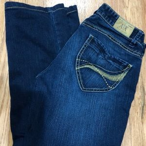 A/X Armani Exchange gold thread jeans